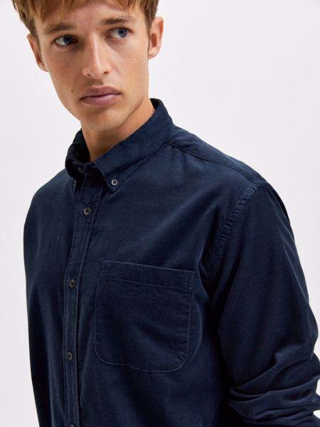 Selected fløjl skjorte